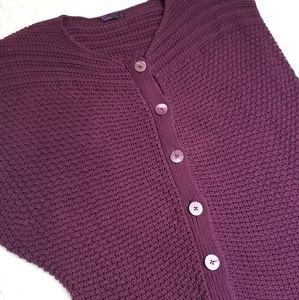 Prana Cardigan Dolman Womens XL Chunky Knit Purple